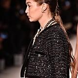 Gigi Hadid's Wet Ponytail at the Chanel Métiers d'Art 2019-2020 Show