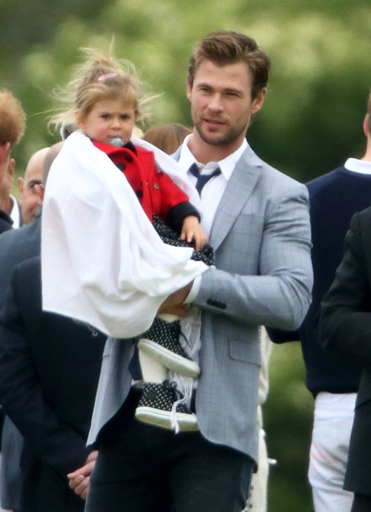 Chris Hemsworth's Family Meets Princes William and Harry