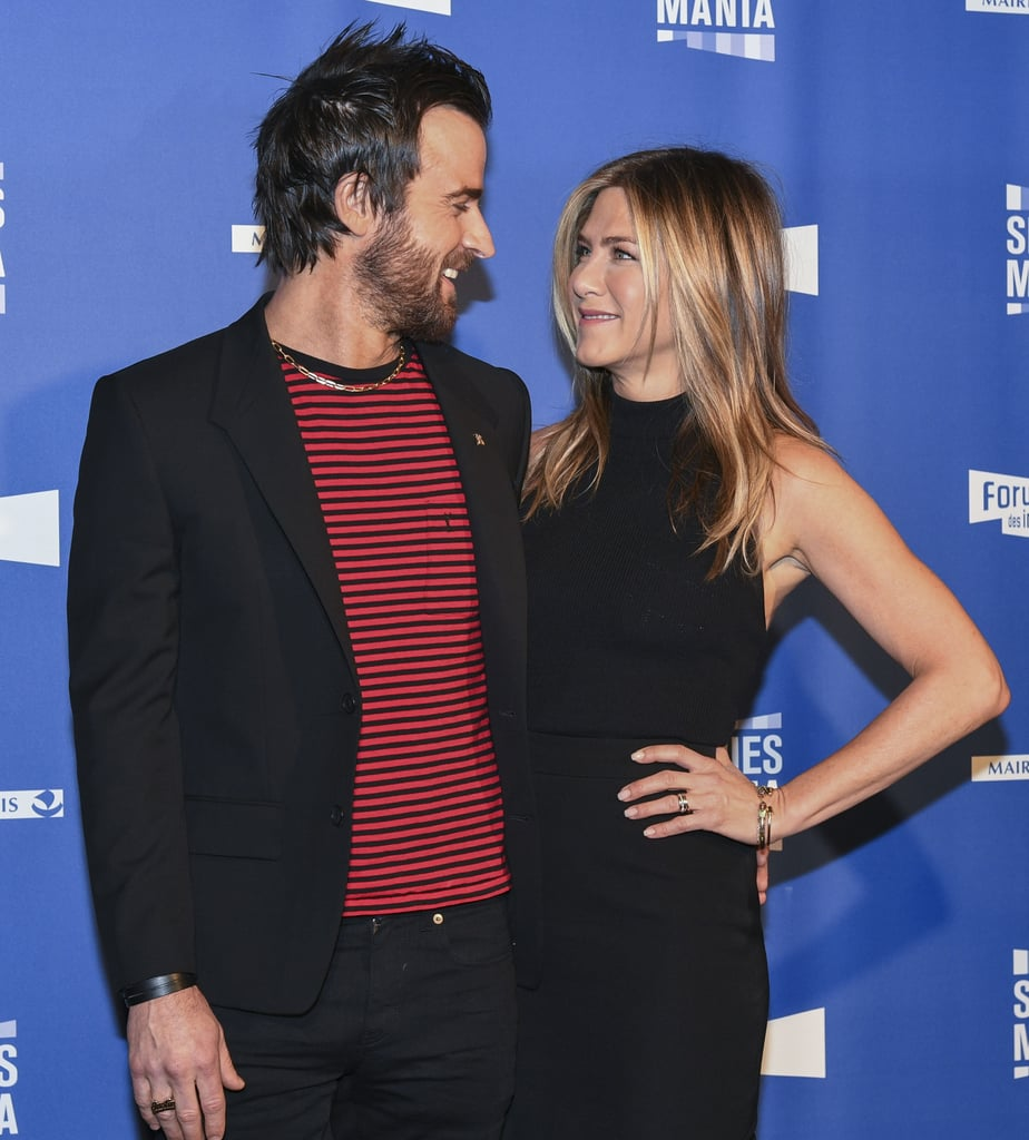Jennifer Aniston Wraps Her Arms Around Justin Theroux During Their Latest Paris Outing