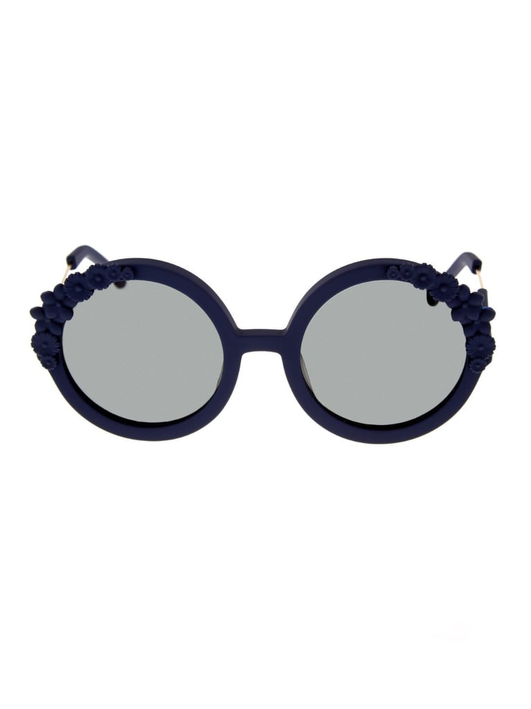 Preen by Thornton Bregazzi Floral-Embellished Rubber Sunglasses ($197)
