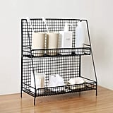 S.H. Black 2 Tier Wire Bathroom Basket