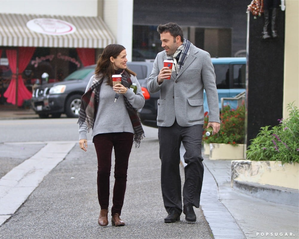 They shared sweet glances during an LA coffee run in December 2012.
