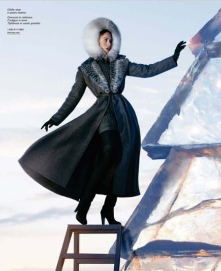 Hermes Takes Raquel to the Ice Hotel for Its Fall 2009 Ad Campaign