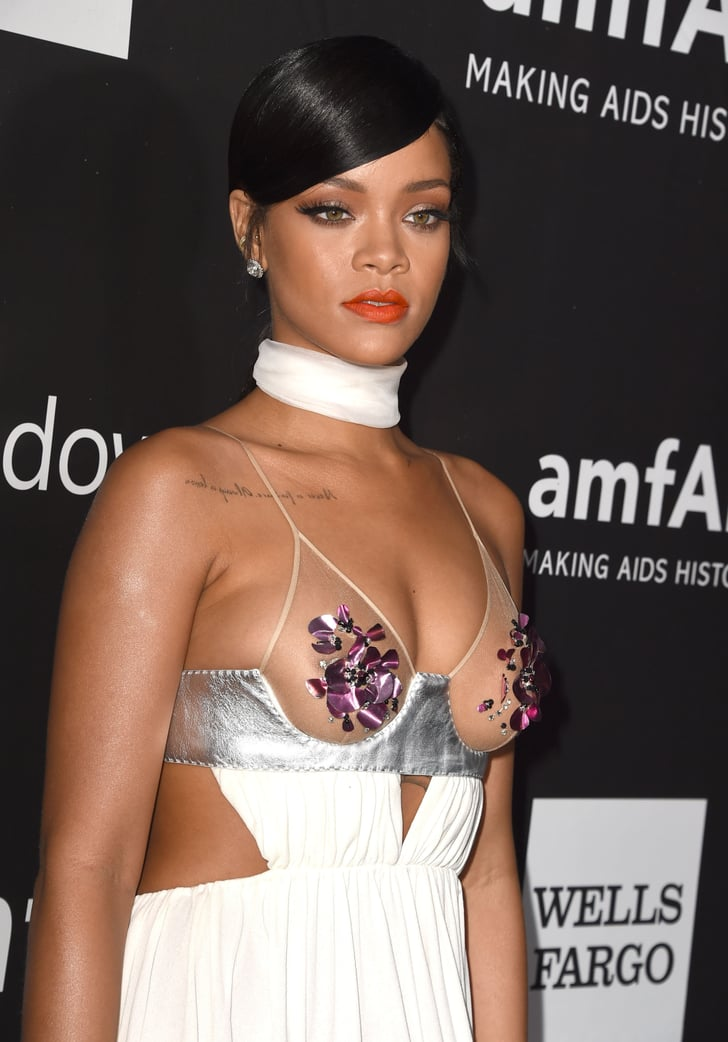 Rihanna And Miley Cyrus In Sexy Tom Ford Looks At Amfar