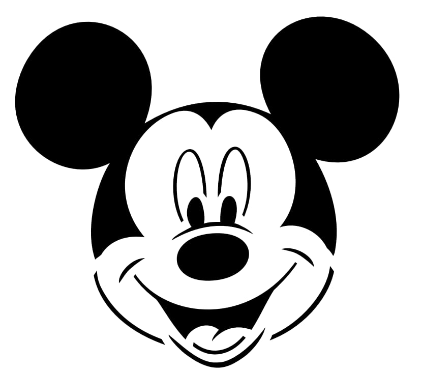 It's just an image of Mickey Mouse Pumpkin Stencils Printable throughout clip art