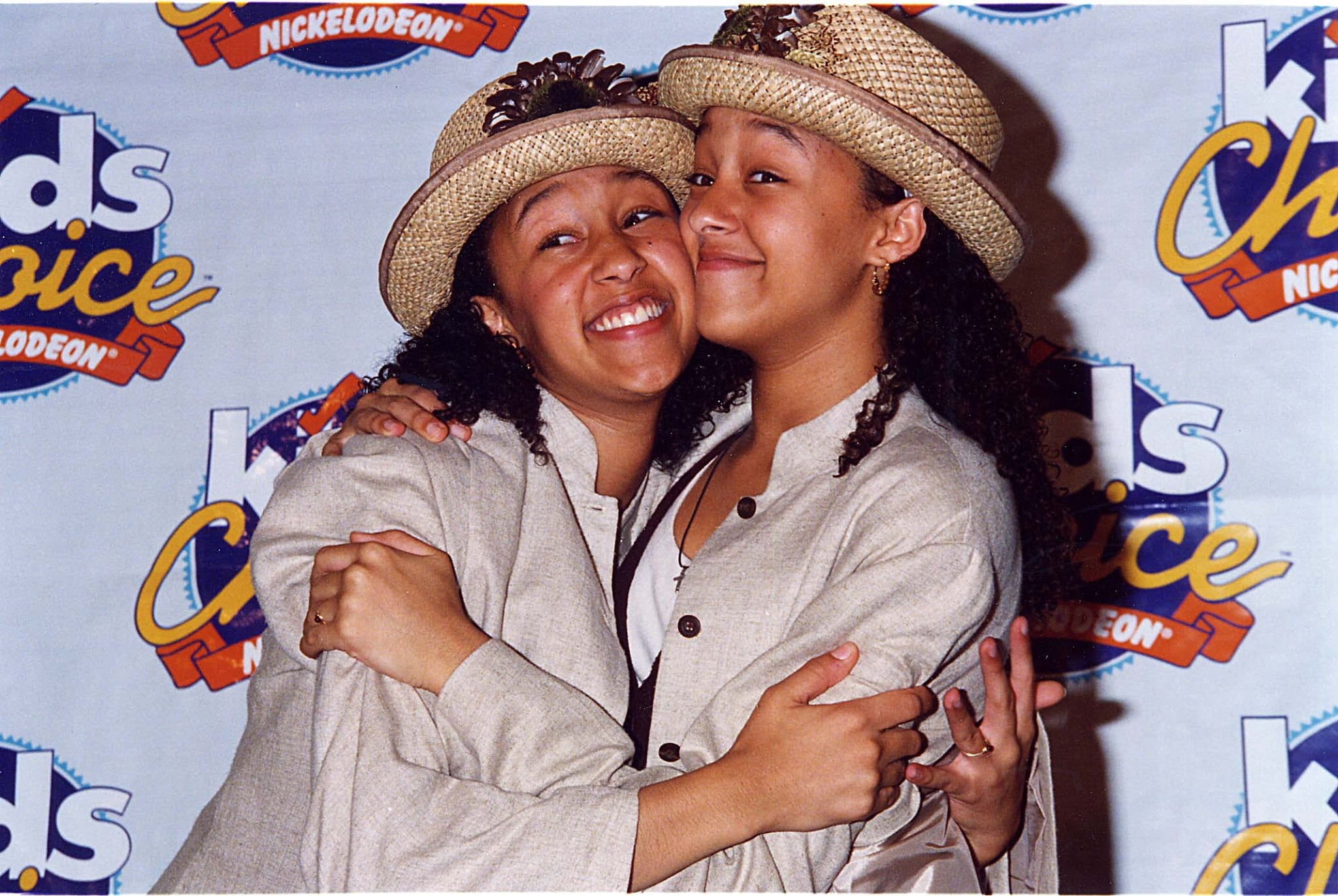 Tia Mowry & Tamera Mowry during 1994 Kid's Choice Awards in Los Angeles, California, United States. (Photo by Jeff Kravitz/FilmMagic, Inc)