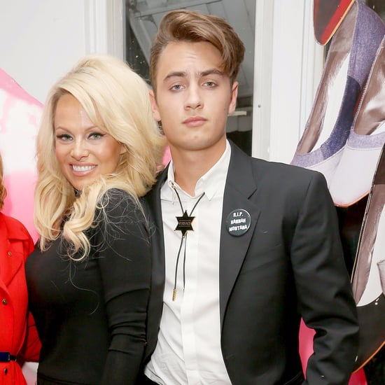 Pamela Anderson and Son Brandon December 2015