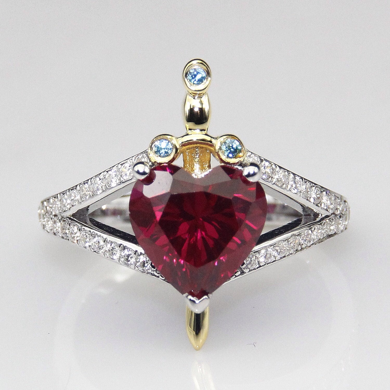 engagement princess cut ruby rings