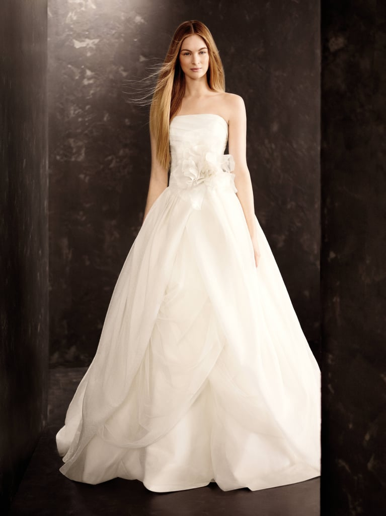 Organza Gown with Draped Bodice and Tulle Skirt ($928) Photo courtesy of White by Vera Wang