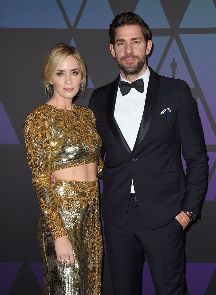 John Krasinski and Emily Blunt at the Governors Awards 2018