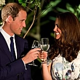 Kate Middleton and Prince William enjoyed themselves during a reception in Singapore.