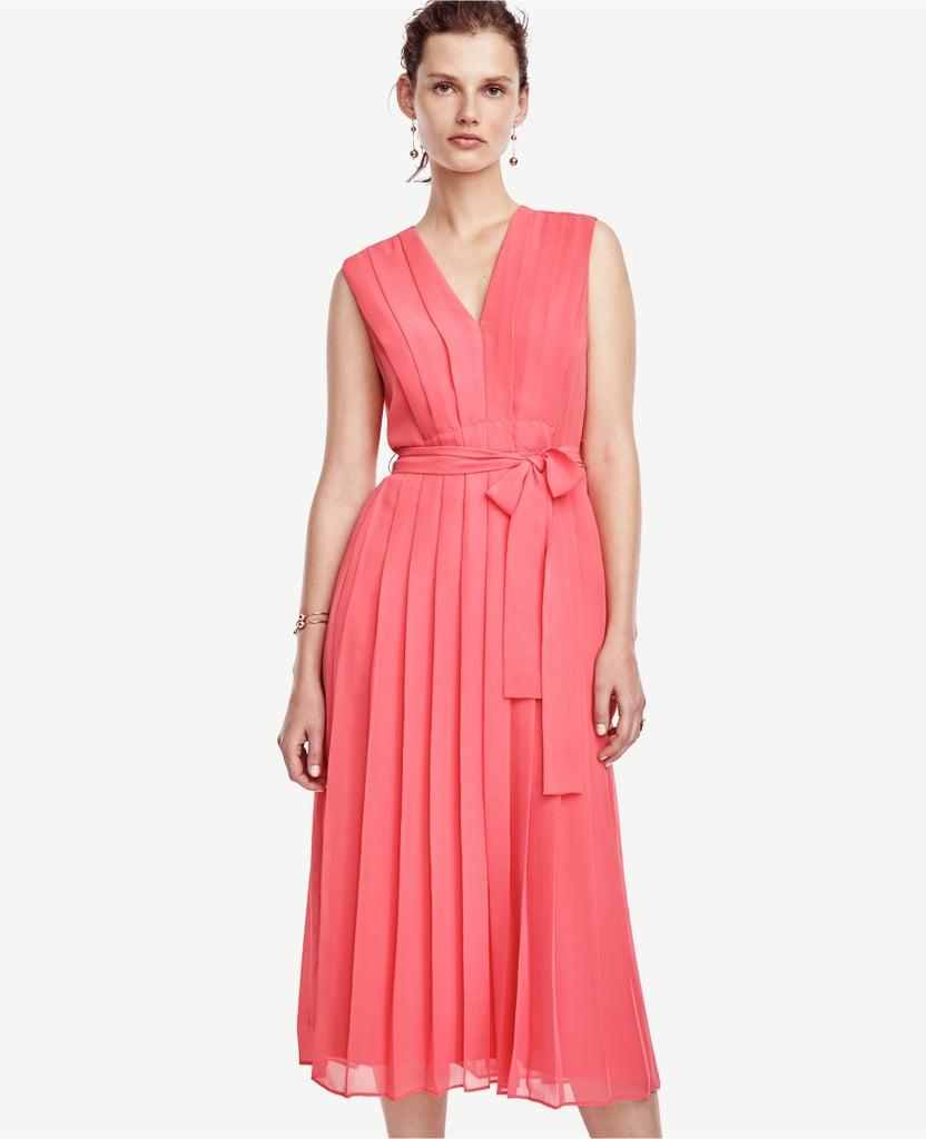7130051d5056 Ann Taylor Pleated Tie Waist Dress ( 179)