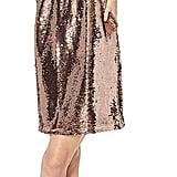 BB Dakota Sparkle Motion Sequin V-Neck Shift Dress