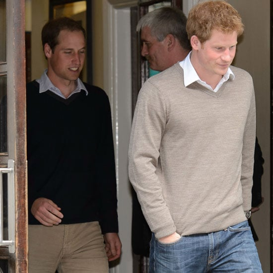 Prince William And Prince Harry Visit Their Grandfather In
