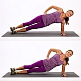 Side Plank Dips (Left Side)