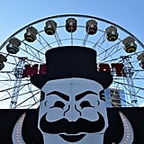 As you entered the line for the Ferris wheel, you couldn't escape Mr. Robot's stare.