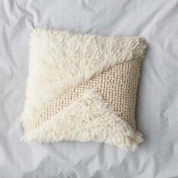 Cstudio Home by The Company Store Ivory Woven Shag Pillow Cover