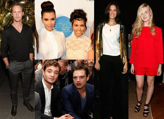 Alexander Skarsgard, Kim Kardashian, Ed Westwick, and More Wrap Up a Fashionable Day