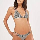 Topshop Striped Bikini