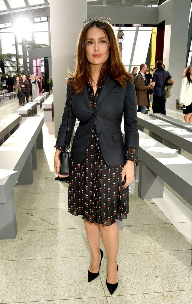 Salma Hayek At London Fashion Week 2015 Popsugar Latina