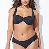 Swimsuits For All Socialite Black Side Ruched Underwire Bikini