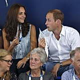 The pair got a little goofy during a hot day at the Commonwealth Games in July 2014.