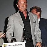 Sylvester Stalone sat on the Expendables 2 panel.