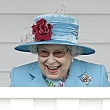 Queen Elizabeth watches polo in 2010.