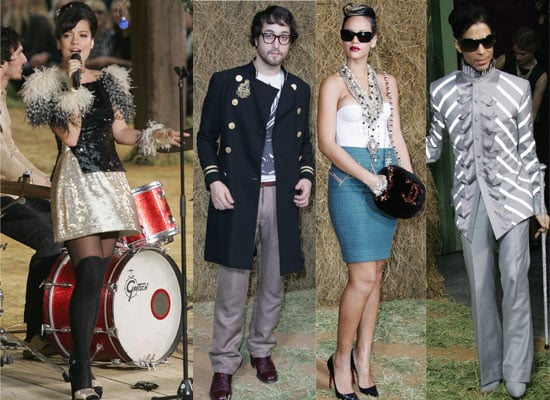 Photos of Lily Allen Performing At Chanel Paris Fashion Week Show, Sean Lennon At Chanel Show, Prince At Chanel Show, Rihanna