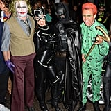 In Miami in 2012,Kim Kardashian and Kanye West posed as Catwoman and Batman with Jonathan Cheban as the Joker.
