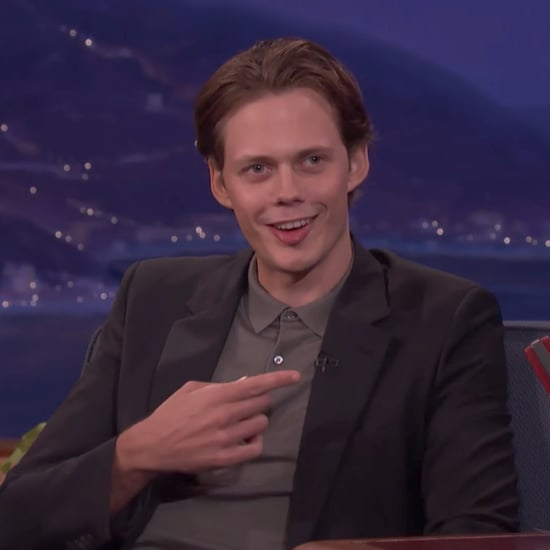 Bill Skarsgard Does the Pennywise Smile From It on Conan