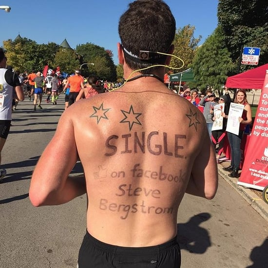 Shirtless Man in Chicago Marathon