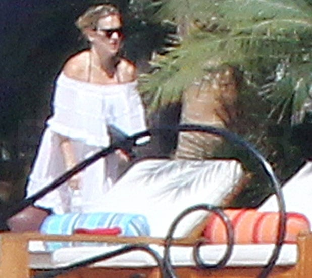 Kate Hudson continued her vacation in Cabo yesterday by stepping out onto her patio in a white sundress to enjoy the sunshine. The actress was in LA over the weekend to watch her son Ryder's baseball game, and they then headed to Mexico for a vacation with her boyfriend, Matt Bellamy. The trio were together for a fun day outside, with Kate showing off her pregnant stomach in a white bikini. Kate's adjusting her laid-back style to suit her changing shape, and she's seeming to have no trouble at all dressing for a casual day or a fancy night.