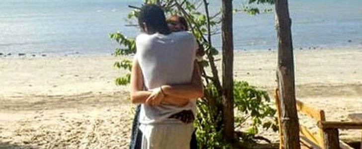 The 2 People Hugging in This Photo Created an Optical Illusion That Will Drive You Insane