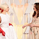 Lady Gaga and Keira Knightley