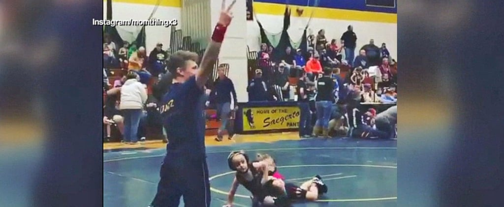 The Adorable Reason This 4-Year-Old Boy Ran Away From His Competitor at a Wrestling Match