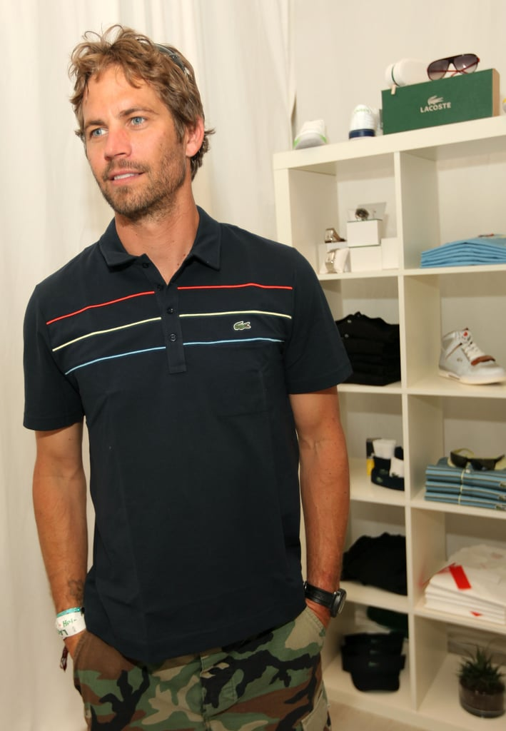 Paul Walker attended a Lacoste-hosted pool party during Coachella in April 2010.
