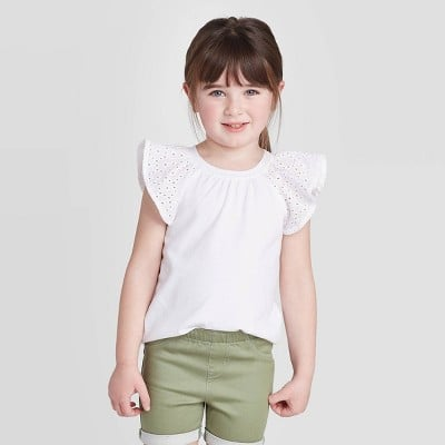 Short Sleeve Eyelet T-Shirt