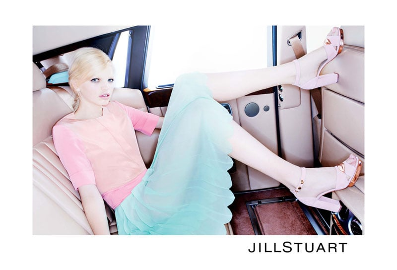 Daphne Groeneveld showed off pretty pastels in Jill Stuart's Spring ad, shot Mario Sorrenti.