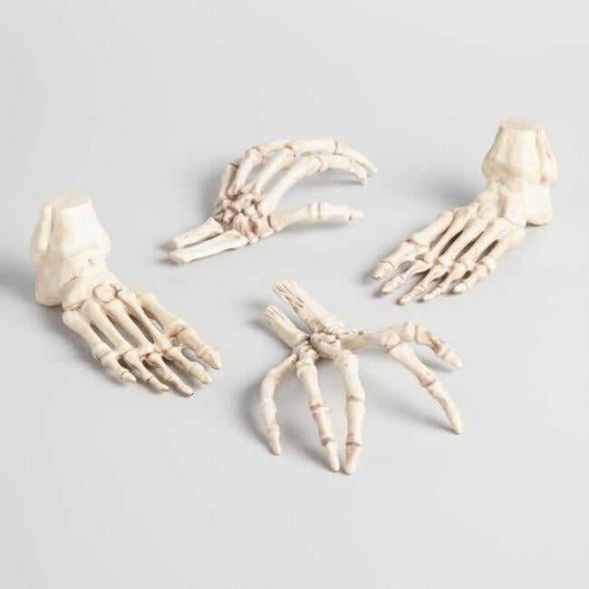 Skeleton Hands And Feet Set Of 4 ($16)
