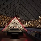 It's Modeled After the Giant Glass and Metal Structure in the Louvre's Courtyard