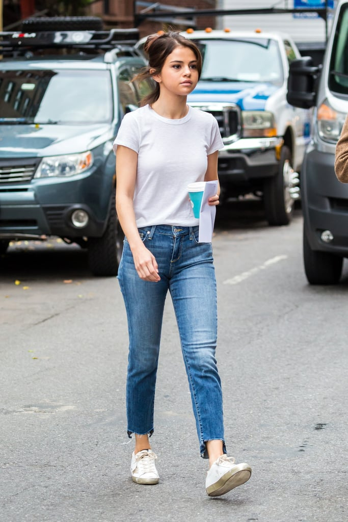 Selena Gomez Was Seen Wearing a White Tee and Jeans