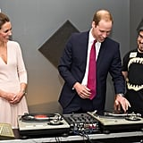 Kate checked out Prince William's DJ skills at the youth community center in Adelaide, Australia.