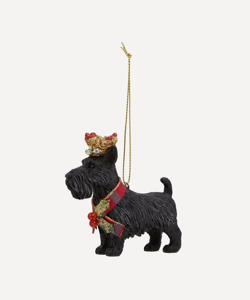 Liberty London Scottie Dog With Crown Decoration