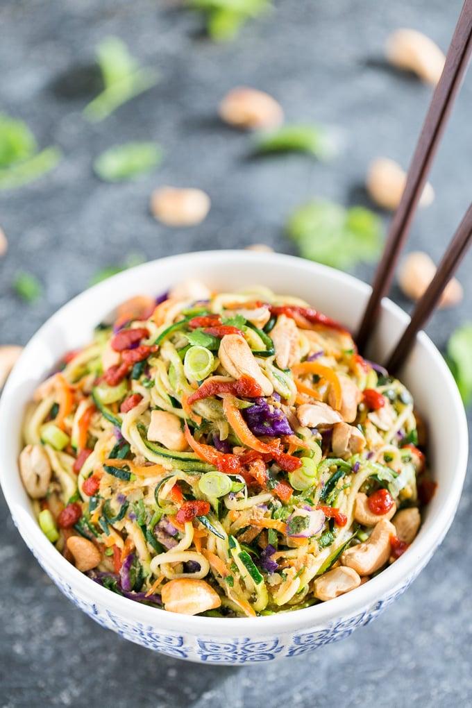 Rainbow Veggie Dragon Zucchini Noodles