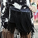 A fringed bag was the perfect accessory for twirling and dancing to the music.