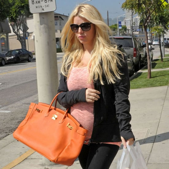 Pregnant Jessica Simpson Shopping at Bel Bambini