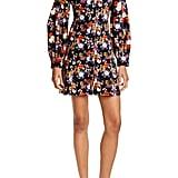 Staud Chandler Floral Velvet Long Sleeve Minidress