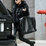 Mary-Kate Olsen sported black pants in NYC.