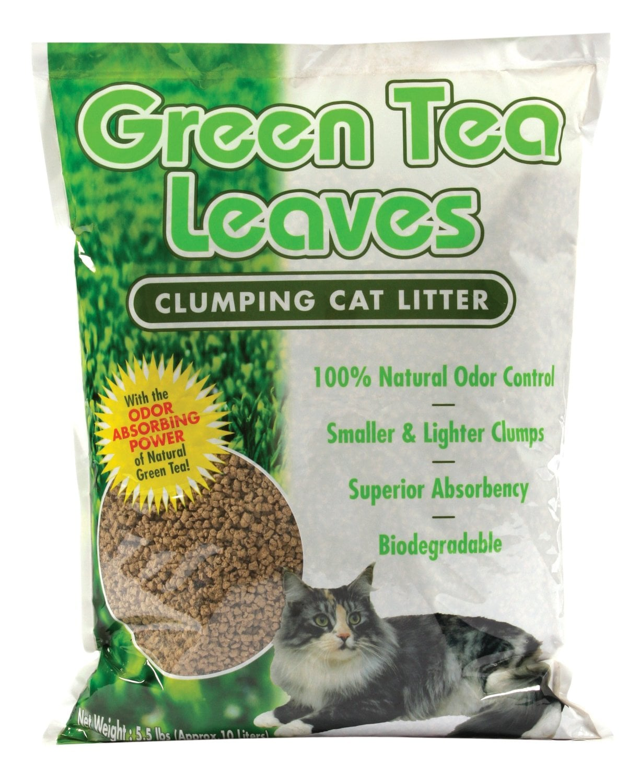 Natural Green Tea Leaves Cat Litter